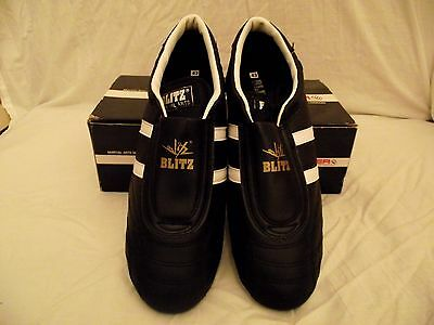 Adults black blitz martial arts shoes size 9/43