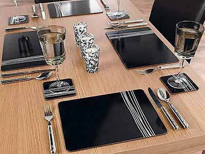 Argos QC Placemats, Coasters and Serving Mats - Black and White.