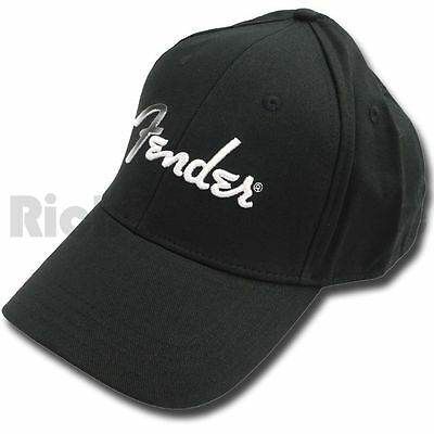 Fender Logo Baseball Cap - Black - Small/Medium