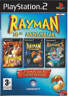 RAYMAN 10TH ANNIVERSARY 3 in 1 Games Pack Limited Edition - Playstation 2 PS2
