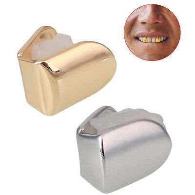 Hip Hop Rock Gold Plated Teeth Single Tooth Grill Grillz Christmas Party