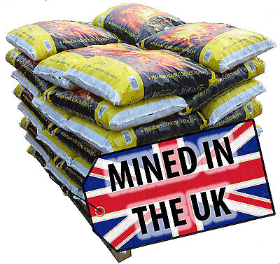 1 Tonne Scottish Coal - 40 x 25kg bags. FREE DELIVERY UK.