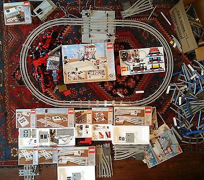 Vintage Huge Lot Lego Train 7856 7866 7860 7857 folders Box Boxes and other