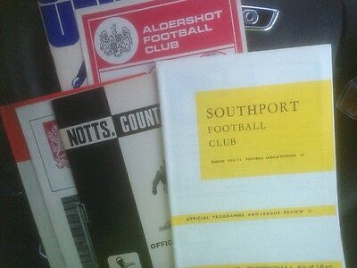 Bournemouth Away Programmes 1970/71 Promotion Season x 6 Inc Southport Notts Co.