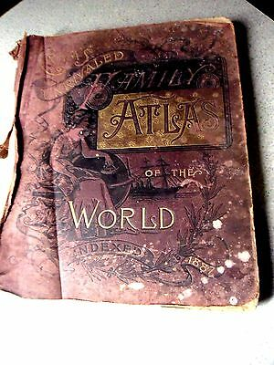 Antique Crams Unrivaled Atlas of the World 20th Edition 1887