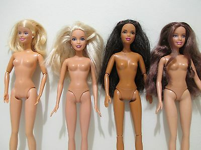 Barbie lot of 4 barbie dolls used in great condition lot # 3