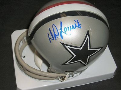 D.D. Lewis autographed Dallas Cowboys mini helmet #2