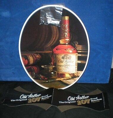 Vintage 1970s OLD WELLER Bourbon STORE DISPLAY NOS New 19x15 HANGING OVAL SIGN