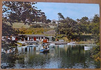 Old postcard of Boating Station, Brecon