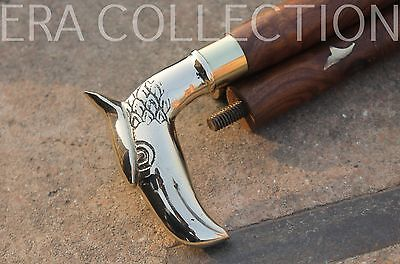 Eagle Brass Top Wooden Walking Stick For Gentlemen