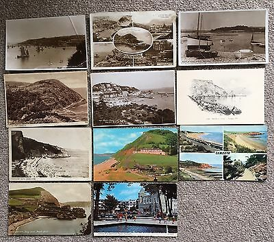 Vintage Postcards Devon Incl RP, Lynton,Torquay,Budleigh, Exmouth