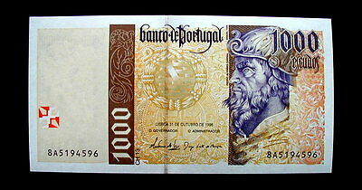 1996 PORTUGAL Banknote 1000 escudos  UNC FDS GEM HIGH QUALITY CONSECUTIVE