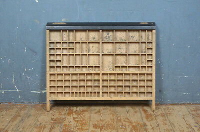 Vintage old wooden printers draw drawer / tray 65 x 53 cm - FREE POSTAGE