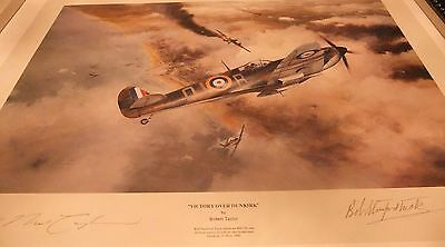 Robert Taylor Limited Edition Print ' Victory over Dunkirk 'Signed .