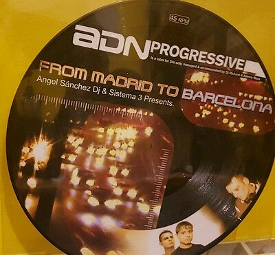 """Angel Sanchez & Dj Sistema 3 Pres. From Madrid to Barcelona (Picture Disc) 12"""""""
