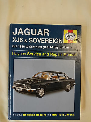 Haynes Jaguar XJ6 & Sovereign 1986 to 1994 Manual 3261 in new condition