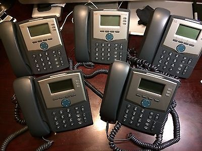 5 x Cisco SPA 303 IP Phone With 3 x UK power supplies