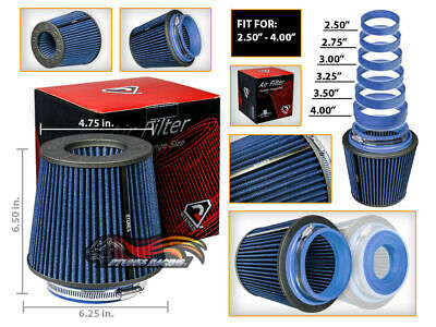 Short Ram Cold Air Intake Filter Universal BLUE For Hummer H1/H2/H3/H3T