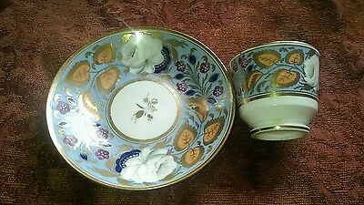 SUPERB QUALITY EARLY 19th CENTURY ANTIQUE COFFEE CUP & SAUCER, HAND PAINTED