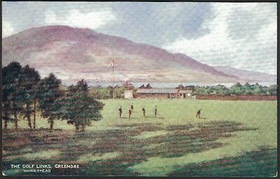 L & N W Railway Official Postcard, The Golf Links, Greenore.