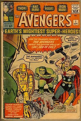 Avengers #1 - 1st Appearance - Hulk, Thor, Iron Man, Ant-Man -Unrestored 1.5/1.8