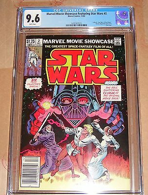 Marvel Movie Showcase Featuring Star Wars #2 (Marvel 12/82) CGC 9.6 WHITE Pages