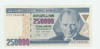 Turkey     P-207        250.000 Lirasi           L.1970(1992)         *unc*