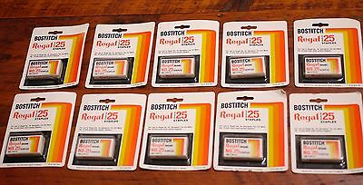 Lot of 10 Boxes of Vintage NEW Deadstock BOSTITCH Regal No. 25 STAPLES Japan