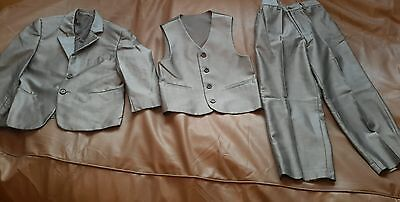 Boys Silver Grey 3 pce Suit