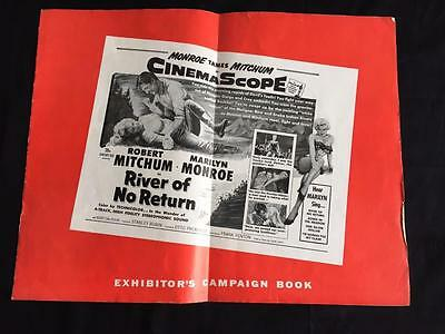 Marilyn Monroe Robert Mitchum pressbook River of No Return uncut vintage 1954