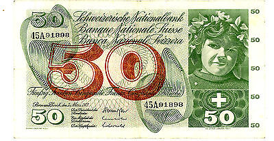 Switzerland … P-48m … 50 Francs … 1973 … *XF*