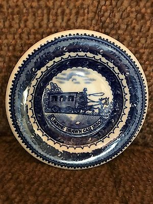 Baltimore snd Ohio Railroad Tiny Plate, Horse Drawn Car 1830