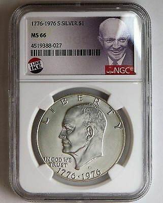 1776 - 1976 S Silver Eisenhower $1 NGC MS 66