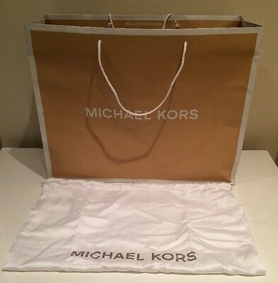 MICHAEL KORS Large Shopping Paper Carrier Gift Bag With Tissue Paper & Dust bag
