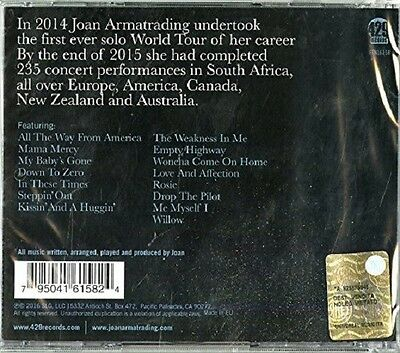 Joan Armatrading - Me Myself I-World Tour Concert   Cd New+