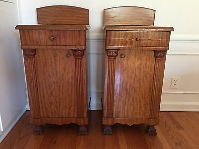 Pair of Empire Antique Night Stands End Tables