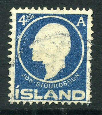 ICELAND;  1911 early Sigurdssson issue 4a. fine used value