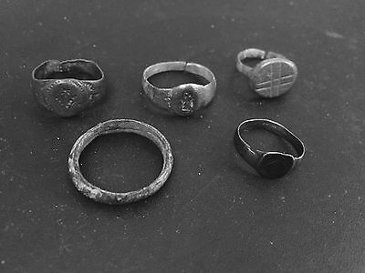 Lot Of Roman Rings From 3rd To 6th Century
