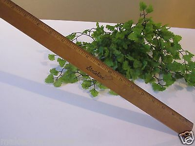 """Vintage Strateline 18"""" Wood Ruler with Metal Edge Made in USA- GREAT PATINA!"""