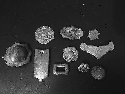 Large Lot Of Roman Army And Viking Belt Fittings