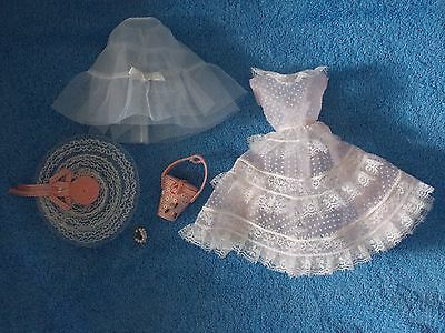 Porcelain Plantation Belle Barbie Doll * Dress, Slip, Bag, Hat & Bracelet Only