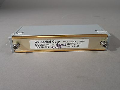 Weinschel 150T-11 RF Variable Attenuator 0-11dB