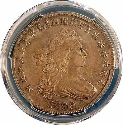 1799 Bust Dollar $1 - Sharp Strike Nice Toning - Pcgs Xf Details - Old Cleaning