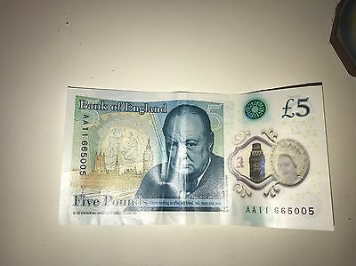 £5 Note AA11