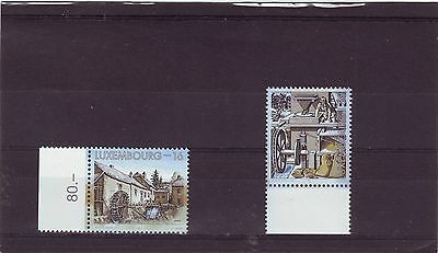 Luxembourg - Sg1455-1456 Mnh 1997 Water Mills