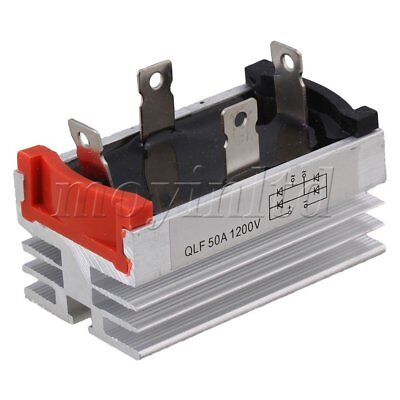 Aluminum Heatsink Base Single Phase Bridge Rectifier Silver