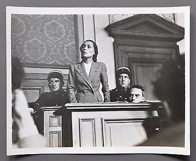 Nat Farbman Vintage Silver Gelatin Photo 25x20 Woman on Trial Family of Man 1955
