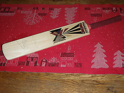 Signed Cricket Bat - Ian Botham & Rory Bremner at Sir Paul Getty ground Wormsley
