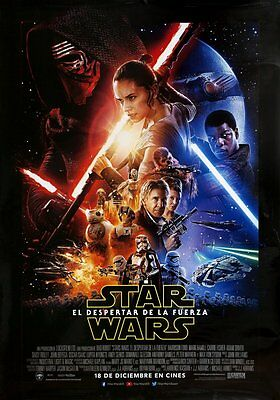 STAR WARS THE FORCE AWAKENS Original DS FINAL Movie Poster 27.5X40 SPANISH VSN
