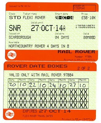 Railway RAIL ROVER TICKET - NORTH COUNTRY